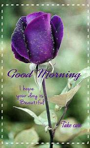 Beautiful Purpl... Beautiful Morning Wish Quotes