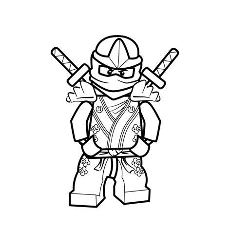 Kleurplaat Ninjago A4 by Leuk Voor Lloyd