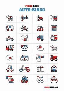 Auto Bingo Fr Kinder Kostenlos Ausdrucken Urlaub Mit