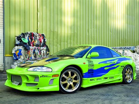 paul walker blue porsche mitsubishi eclipse starring in fast and the furious on