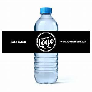 Custom water bottle labels your business logo or design for Custom water bottle labels for business