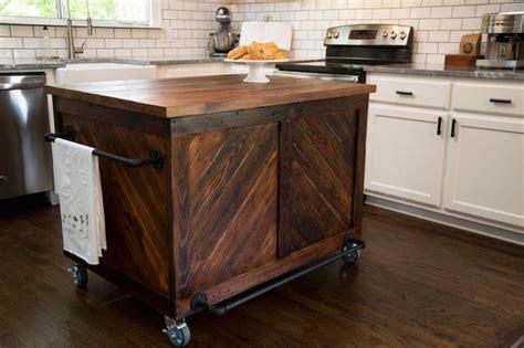 kitchen island on casters vintage wood kitchen island country kitchen hgtv