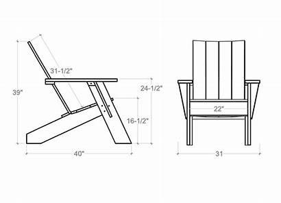 Chair Adirondack Modern Dimensions Loggerhead Furniture Lumber