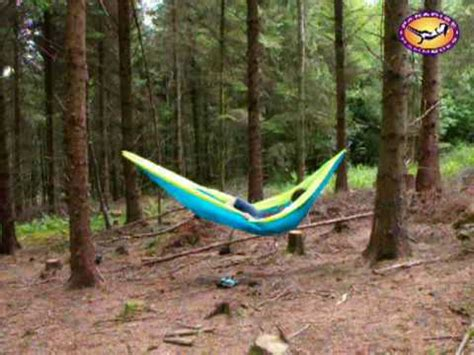 How To Put A Hammock Up by How To Set Up A Single Travel Hammock