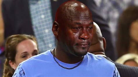 Michael Jordan Crying Meme - the michael jordan crying meme spares no one espn video