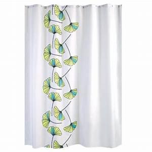 Rideau De Douche : rideau de douche textile bleu ~ Voncanada.com Idées de Décoration