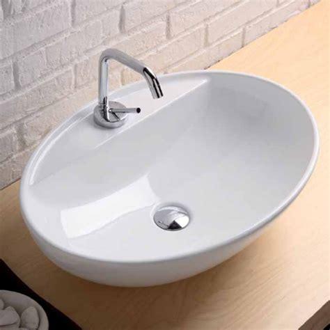 rubinetti per lavabi da appoggio lavabi appoggio lavabo appoggio softly 60 con foro