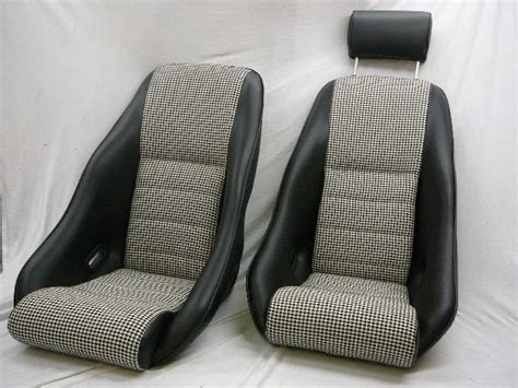 Our 'rallye' Seats In Leatherette W Houndstooth Centers