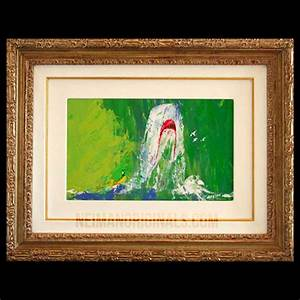 Moby Dick Breaching, original framed oil painting by LeRoy ...