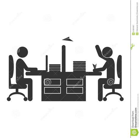 plus d icones sur le bureau travailleur plat d 39 icône de bureau avec l 39 avion de papier