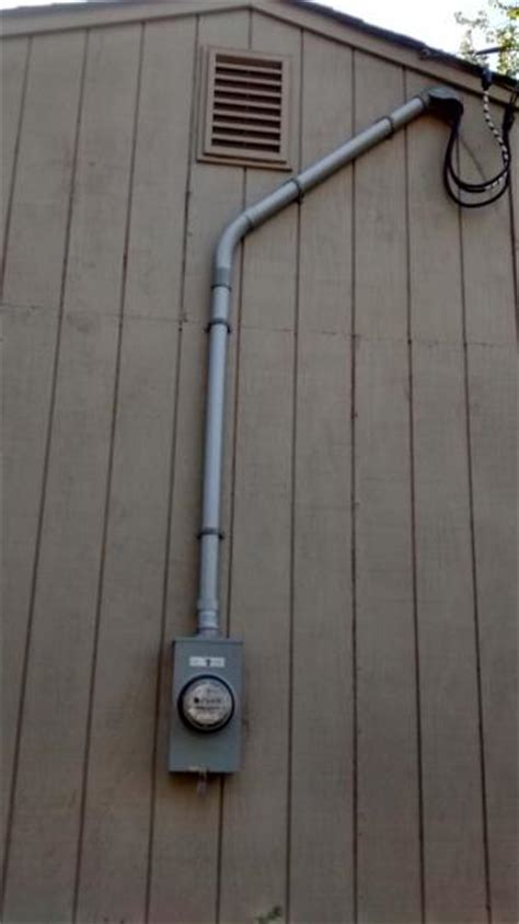 vinyl siding   electric meter