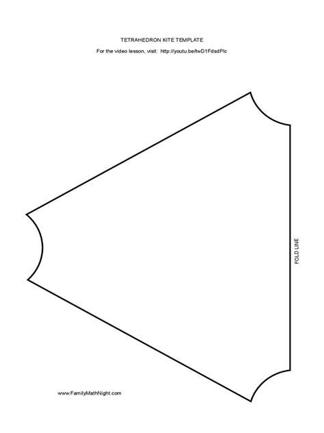 Tetrahedron Kite Template - Costumepartyrun