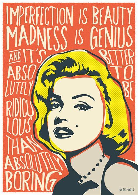 marilyn pop quote digital by bonb creative
