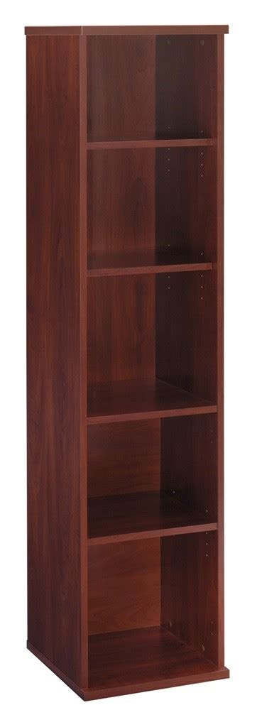 18 Inch Bookcase series c hansen cherry 18 inch 5 shelf bookcase from bush