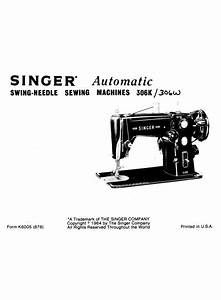 Instruction Manual  Singer 306k   Sewing Parts Online