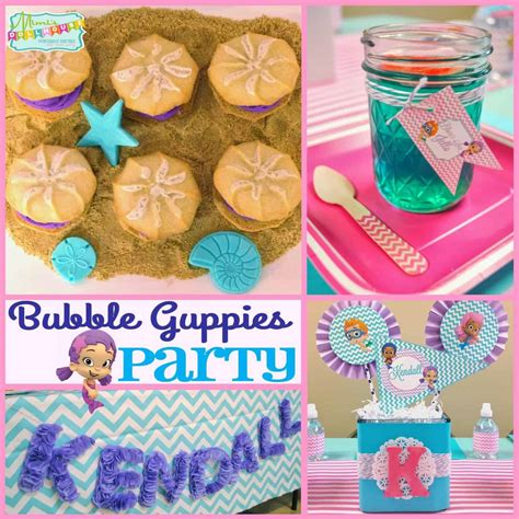 bubble guppies party printable collection mimis dollhouse