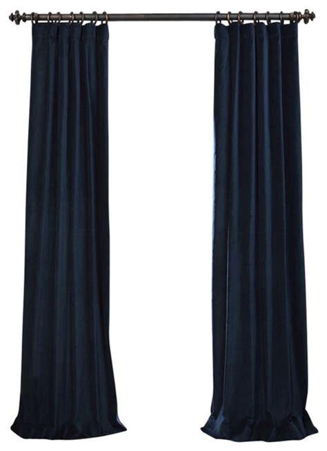 Navy Velvet Drapes - navy vintage cotton velvet curtain contemporary
