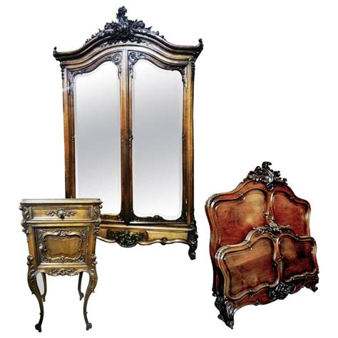 Bedroom Set Louis Xv Rocaille Style 19th Century