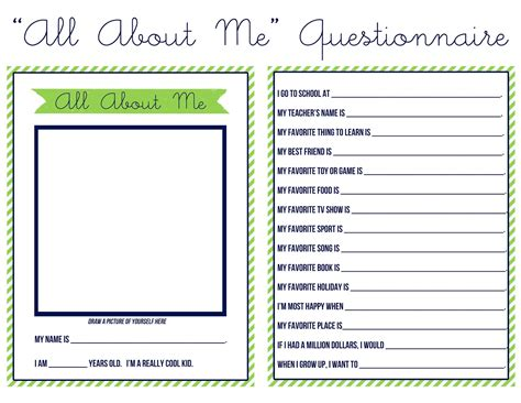 about me page template just peachy designs quot all about me quot questionnaire