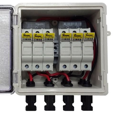 Dc Fuse Box Home by Pv Solar 3 String Dc Combiner Box With 6 Fuses Pre Wired
