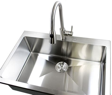 kitchen sinks top mount 33 inch top mount drop in stainless steel single bowl 6094