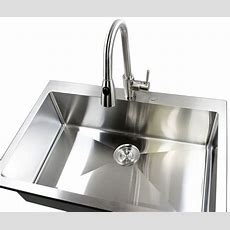 33 Inch Topmountdropin Stainless Steel Single Bowl