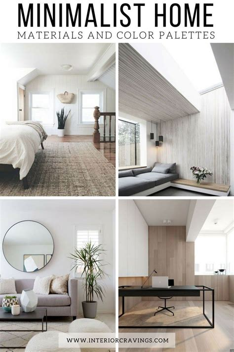 Home Interior Color Palettes by Minimalist Home Essentials Materials And Color Palette