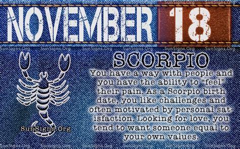 November 18 Zodiac Birthday Horoscope Personality