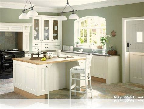 good wall color  kitchen  white cabinets google