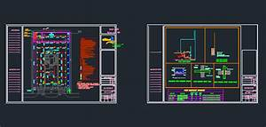 Autocad Shop Drawings For A Fire Fighting Project Dwg