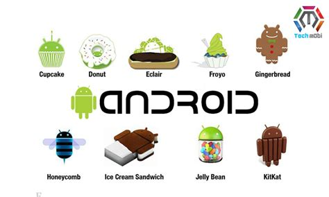 Android Versions From Cupcake To Pie