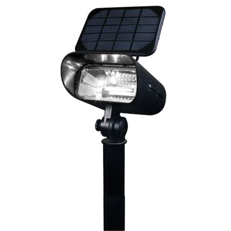 pin solar flag pole lights on