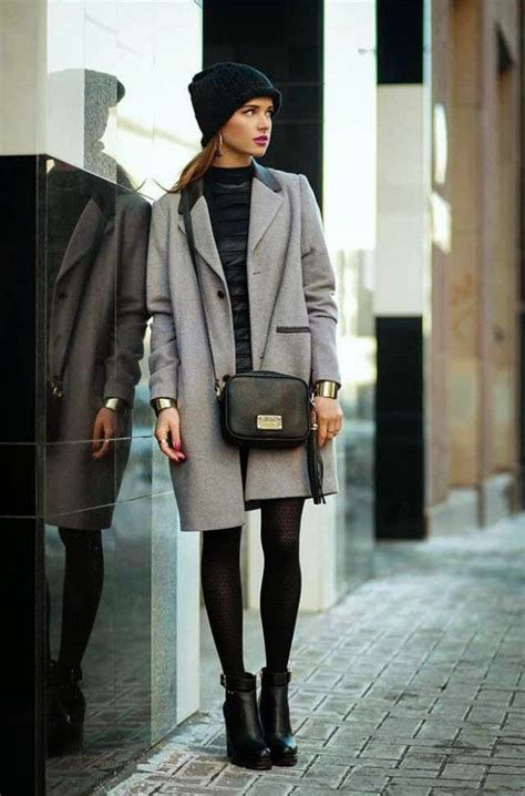 stylish outfit ideas  grey coat perfect
