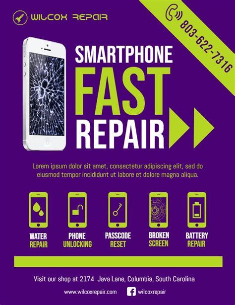 phone repair flyer smartphone repair pc repair phone