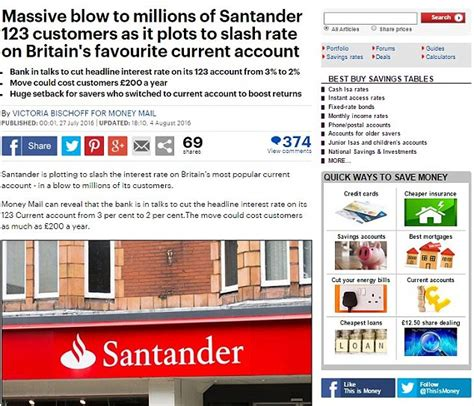 Santander uk plc manages its affairs autonomously. Santander slashes hugely-popular 123 account rate to 1.5%   This is Money
