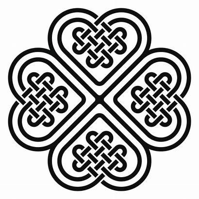 Celtic Clover Knot Heart Tattoo Leaf Irish