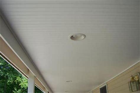Install Vinyl Beadboard Ceiling On Porch