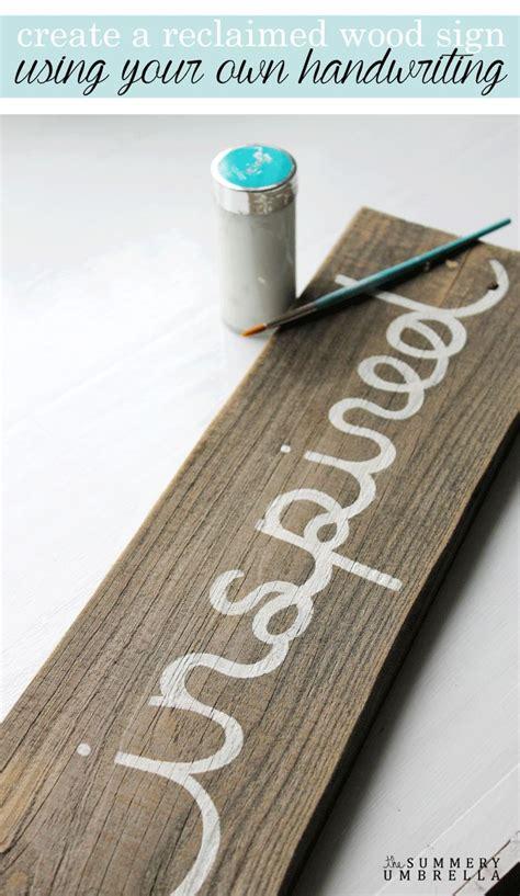 learn   create  reclaimed wood sign