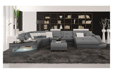 canape panoramique design idee deco salon canape gris 8 modele chambre gris et