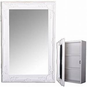Bad Spiegelschrank Holz : spiegelschrank beatrice 60x40cm badezimmer schrank weiss badschrank landhaus ~ Frokenaadalensverden.com Haus und Dekorationen