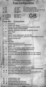 Mercedes-benz Slk  R170  1995 - 2004  - Fuse Box Diagram
