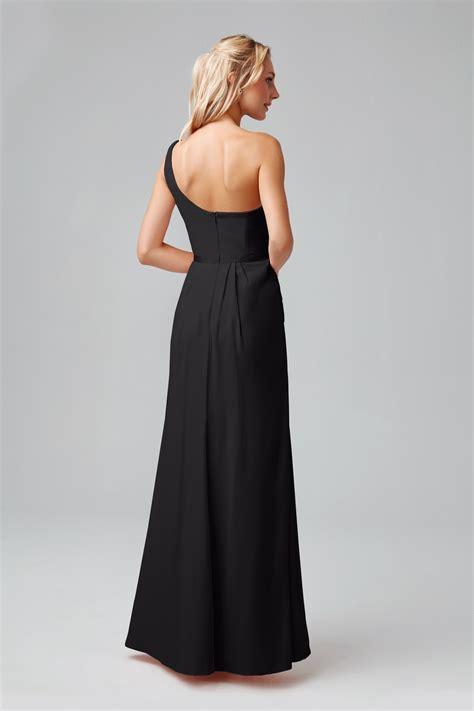 side ruched  shoulder bridesmaid dress pob