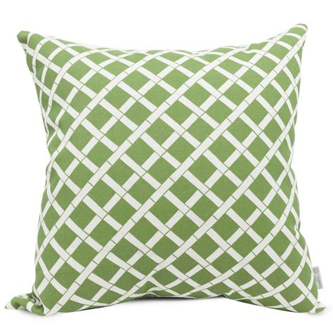 shop majestic home goods sage bamboo geometric square outdoor decorative pillow  lowescom