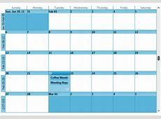 Month View Single Calendar Schedule WPF