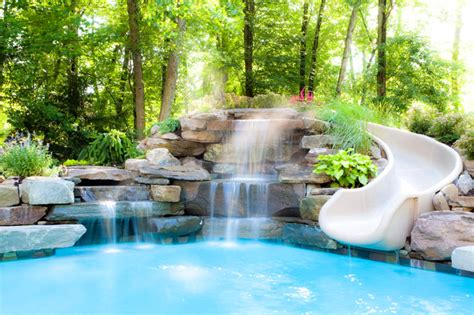 Round Bathroom Rugs by Water Features Traditional Pool New York By Thomas
