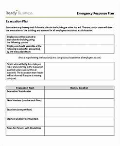 emergency response plan template how do camels store With fire response plan template