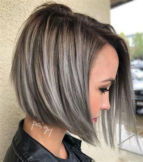 gray hair highlights gray highlights  silver hair