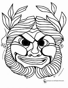 traditional greek mask coloring page woo jr kids With ancient greek mask template