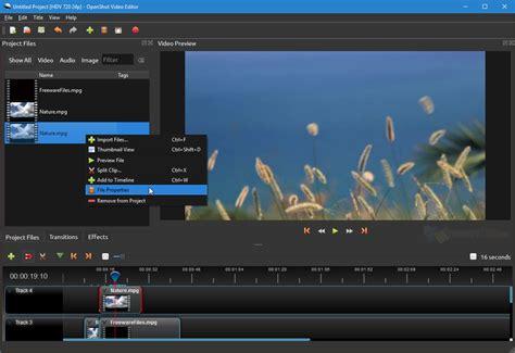 OpenShot Video Editor 2.4.3 Free Download - FreewareFiles ...