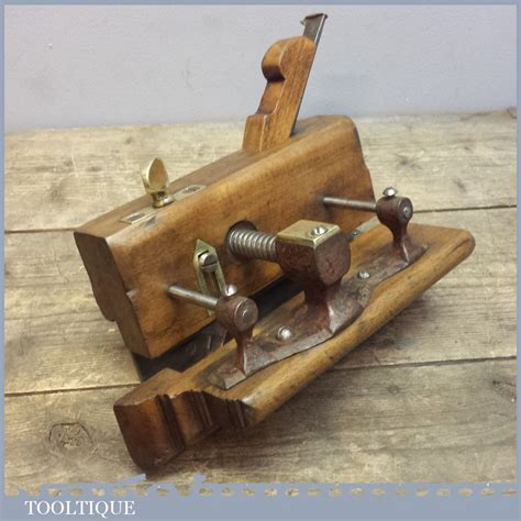 rare antique kimberly patent beech plough plane